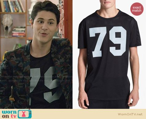 Topman 79 Oversized Mesh T-shirt worn by Michael Willett on Faking It