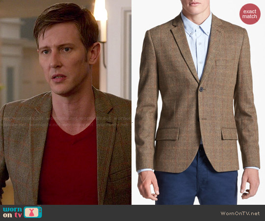 Topman Check Tweed Blazer worn by Gabriel Mann on Revenge