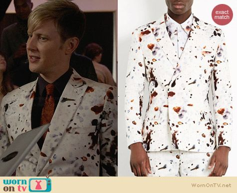 Topman Eggshell printed suit worn by Gabriel Mann on Revenge