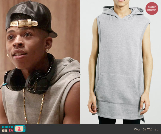 Topman Grey Sleeveless Tunic Hoodie worn by Bryshere Y. Gray on Empire