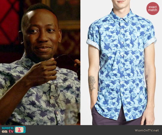 Topman Hibiscus Shirt worn by Lamorne Morris on New Girl