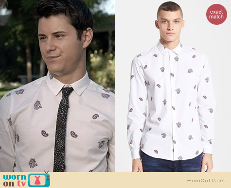 Topman Paisley Print Shirt worn by Michael Willett on Faking It