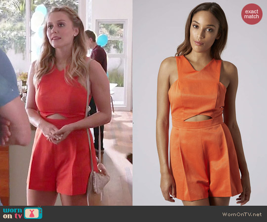 Topshop Cutout Playsuit worn by Julianna Guill on GG2D