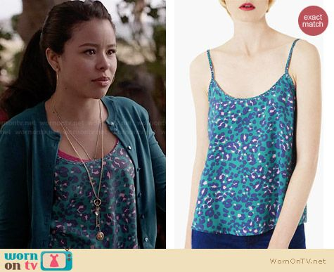 Topshop Animal Print Camisole worn by Cierra Ramirez on The Fosters