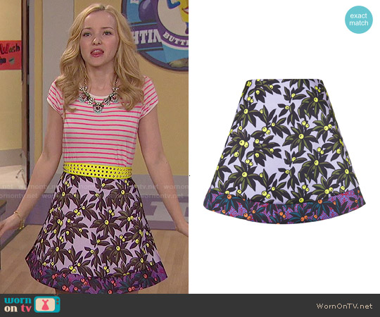 Topshop Berry Print Skater Skirt worn by Dove Cameron on Liv & Maddie