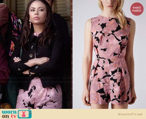 Topshop Chateau Femme Playsuit worn by Janel Parrish on PLL