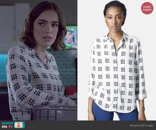 Topshop Check Grid Shirt worn by Elizabeth Henstridge on Agents of SHIELD