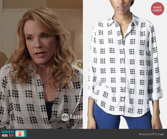 Topshop Check Grid Shirt worn by Lea Thompson on Switched at Birth