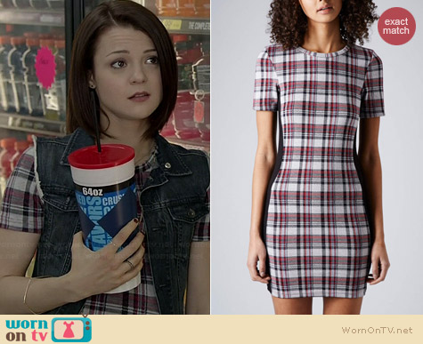 Topshop Check Jacquard Tunic worn by Kathryn Prescott on Finding Carter