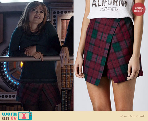Topshop Tartan Skort worn by Jenna Coleman on Doctor Who