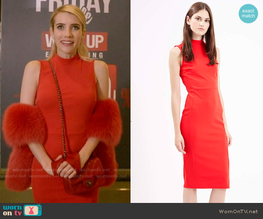 Topshop Clean Seam Midi Dress worn by Emma Roberts on Scream Queens