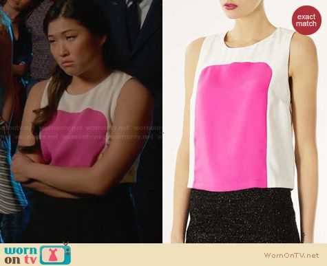 Topshop Colorblock Shell worn by Jenna Ushkowitz on Glee