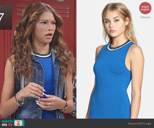 Topshop Contrast Trim Jersey Midi Dress worn by Zendaya on KC Undercover