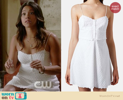 Topshop Cotton Eyelet Sundress worn by Gina Rodriguez on Jane the Virgin