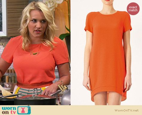 Topshop Crepe Shift Dress worn by Emily Osment on Young & Hungry