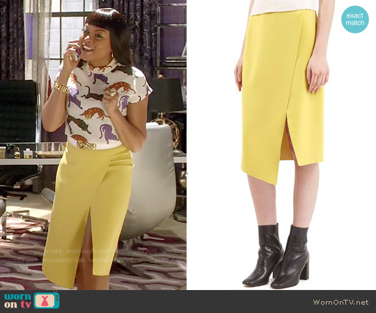 Topshop Crepe Wrap Skirt worn by Cookie Lyon on Empire