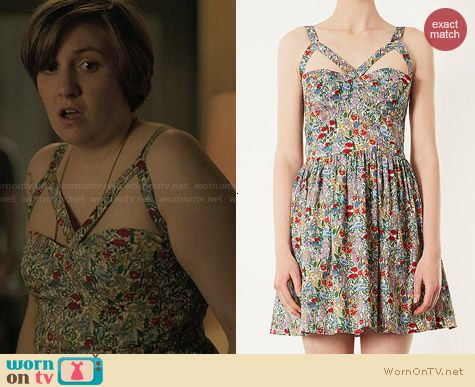 Topshop Cutout Apex Sundress worn by Lena Dunham on Girls