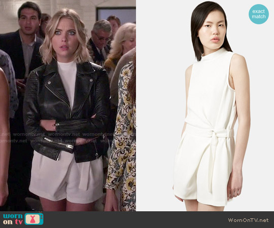 Topshop D-Ring High Neck Romper worn by Ashley Benson on PLL