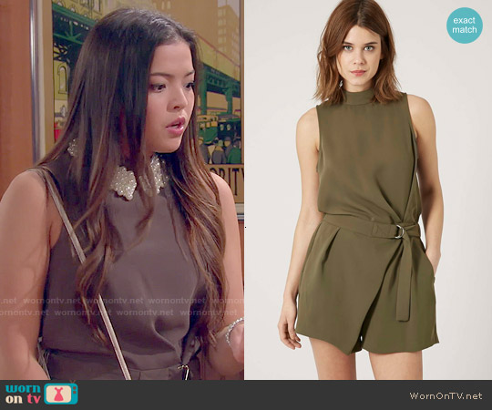 Topshop D-Ring Playsuit worn by Piper Curda on IDDI