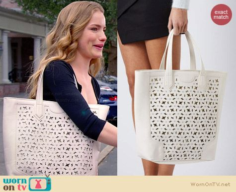 Topshop Daisy Cutwork Tote worn by Willa Fitzgerald on Royal Pains