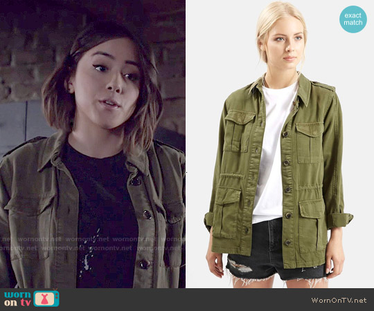 Topshop Elsa Four Pocket Utility Jacket worn by Chloe Bennet on Agents of SHIELD