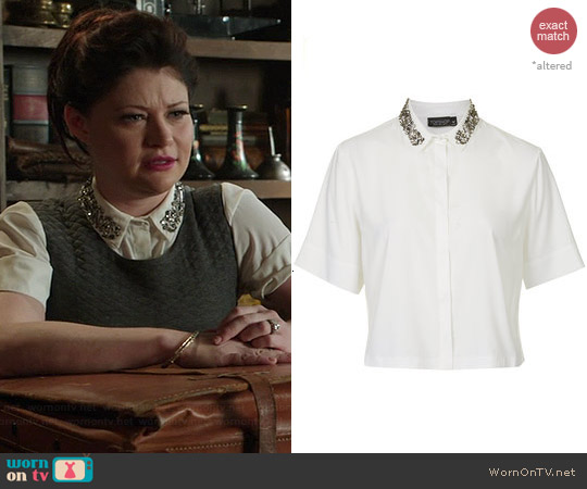Topshop Embellished Collar Shirt worn by Emilie de Ravin on OUAT