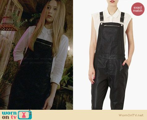 Topshop Faux Leather Overalls worn by Taissa Farmiga on AHS Coven