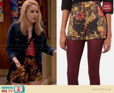 Topshop Fern Shorts worn by Taylor Sprietler on Melissa & Joey