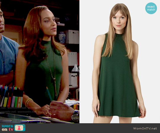 Topshop Flippy Tunic Dress in Green worn by Reign Edwards on The Bold & the Beautiful