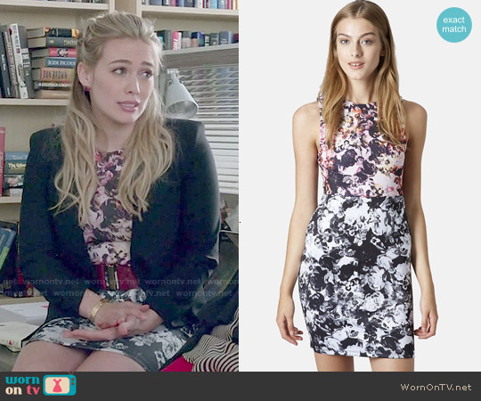Topshop Floral Print Body-Con Dress worn by Hilary Duff on Younger