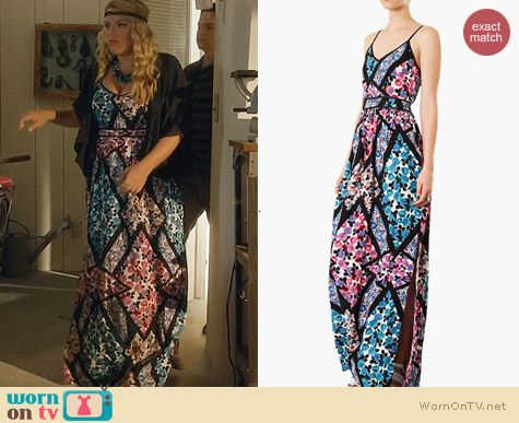Topshop Cutabout Floral Maxi Dress worn by Busy Phillips on Cougar Town