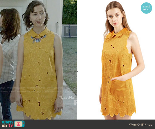 Topshop Floral Cutwork Shift Dress worn by Kristen Schaal on Last Man On Earth