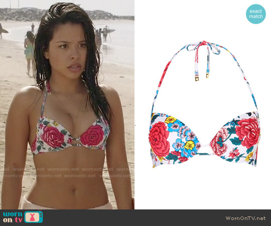 Topshop Floral Halter Bikini Top worn by Cierra Ramirez on The Fosters