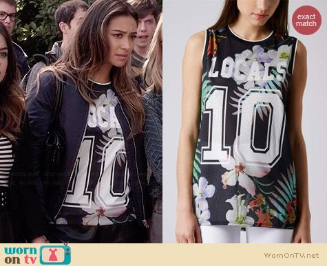 Topshop Locals Only Floral Tank worn by Shay Mitchell on PLL