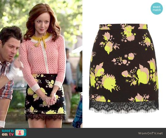 Topshop Flower Print Mini Skirt worn by Cassandra Cillian on The Librarians