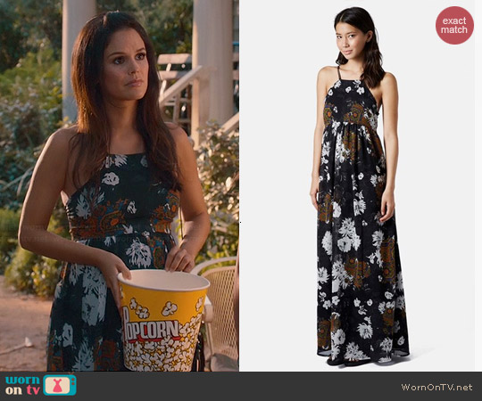 Topshop Folk Print Maxi Dress worn by Rachel Bilson on Hart of Dixie