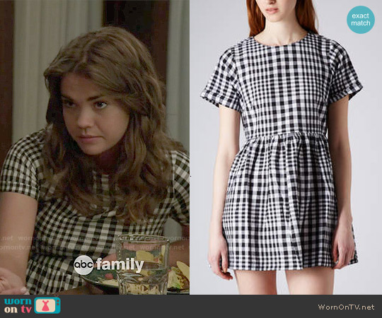 Topshop Gingham Check Dress worn by Maia Mitchell on The Fosters