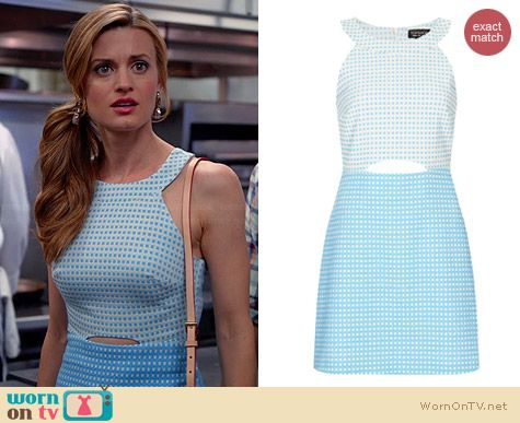 Topshop Gingham A-Line Cutout Dress worn by Brooke D'Orsay on Royal Pains