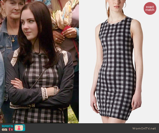 Topshop Gingham Sheath Minidress worn by Haley Ramm on Chasing Life