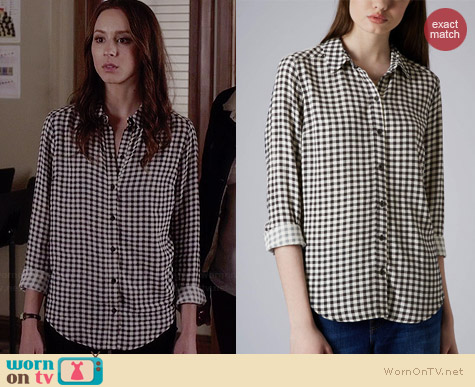 Topshop Gingham Shirt worn by Troian Bellisario