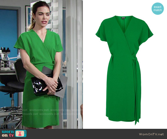 Topshop Wrap Dress worn by Amelia Heinle on The Young & the Restless