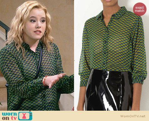 Topshop Heart Geo Shirt worn by Taylor Sprietler on Melissa & Joey