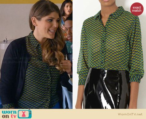 Topshop Heart Geo Shirt worn by Molly Tarlov on Awkward