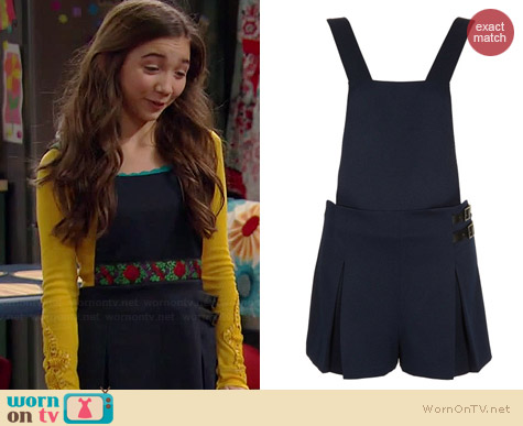 Topshop Textured Pinafore Romper worn by Rowan Blanchard on Girl Meets World