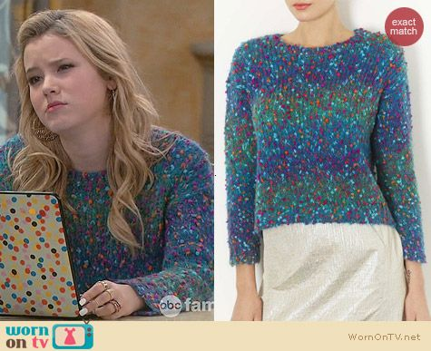 Topshop Knitted Crazy Bobble Jumper worn by Taylor Spreitler on Melissa & Joey