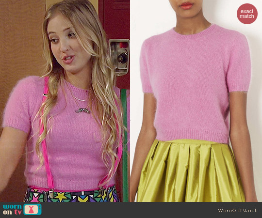 Topshop Knitted Fluffy Angora Sweater worn by Veronica Dunne on KC Undercover