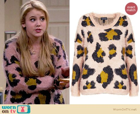 Topshop knitted fluffy animal jumper worn by Taylor Sprietler on Melissa & Joey