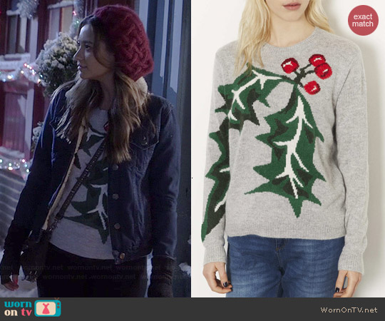 Topshop Knitted Holly Jumper worn by Shay Mitchell on PLL