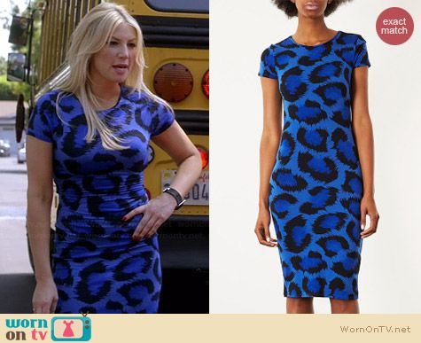 Topshop Leopard Print Cutout Back Bodycon Dress worn by Ari Graynor on Bad Teacher