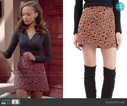 WornOnTV: Nicole's leopard print skirt and wrap top on The Bold ...